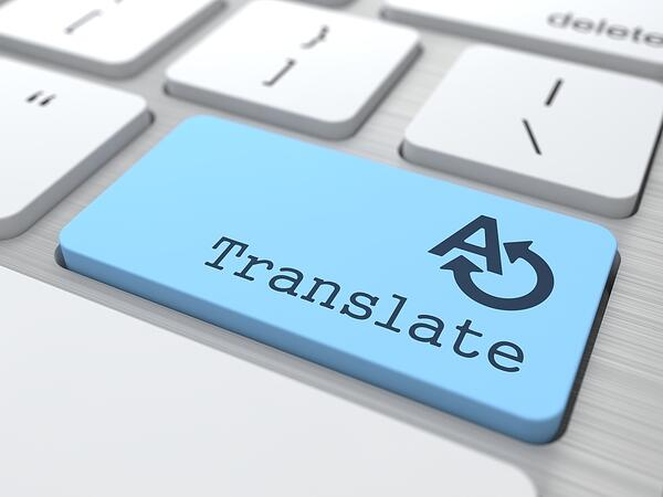 Translating Concept. Translate Button on Modern Computer Keyboard.